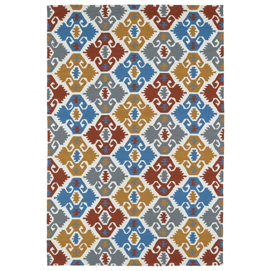 Kaleen Habitat Multi Rectangular Indoor/Outdoor Handcrafted Novelty Area Rug (Common: 8 x 10; Actual: 8-ft W x 10-ft L)