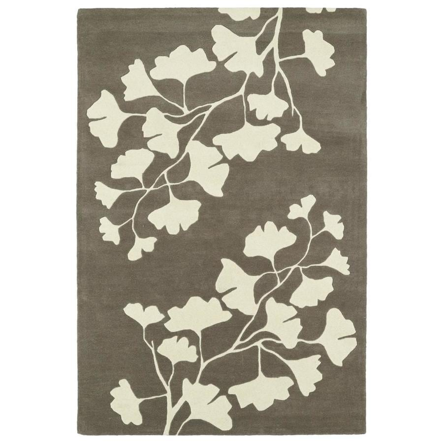 Kaleen Melange Grey Indoor Handcrafted Oriental Area Rug (Common: 5 x 8; Actual: 5-ft W x 7.75-ft L)