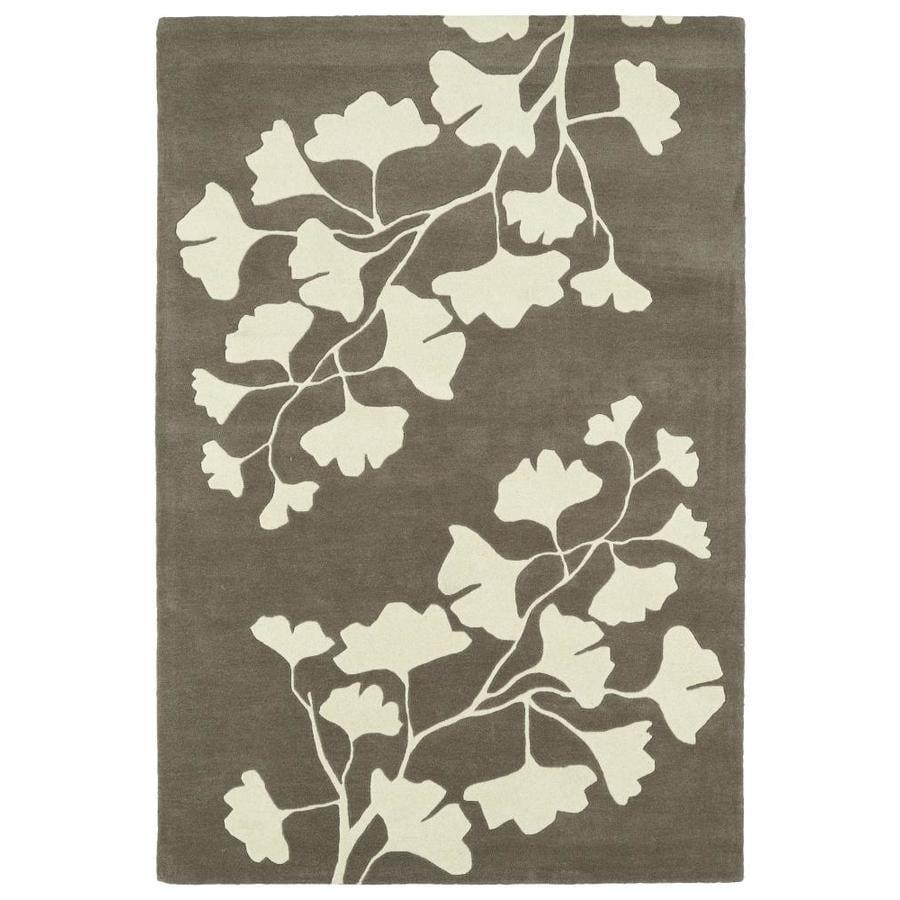 Kaleen Melange Grey Indoor Handcrafted Oriental Area Rug (Common: 9 x 12; Actual: 9-ft W x 12-ft L)