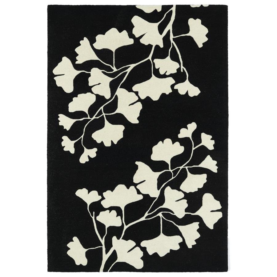 Kaleen Melange Black Rectangular Indoor Handcrafted Oriental Throw Rug (Common: 3 x 5; Actual: 3-ft W x 5-ft L)