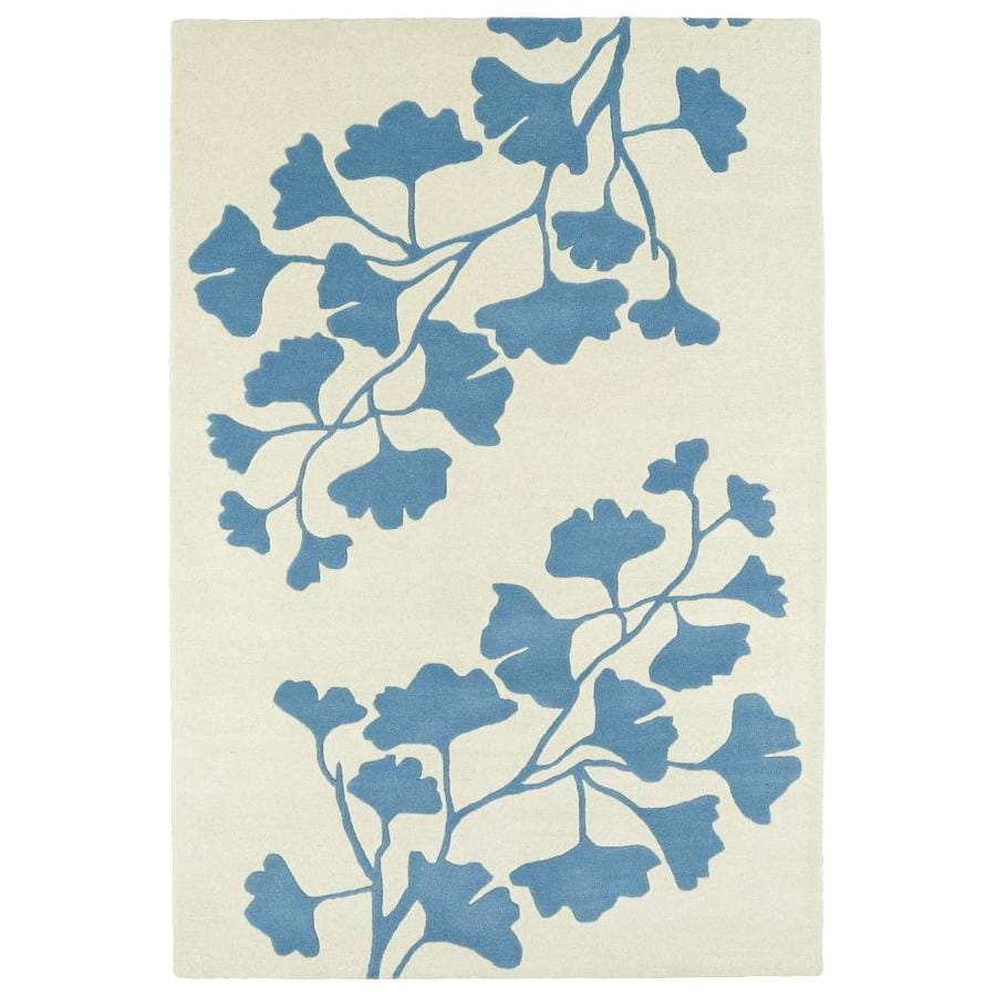 Kaleen Melange Blue Indoor Handcrafted Oriental Area Rug (Common: 5 x 8; Actual: 5-ft W x 7.75-ft L)