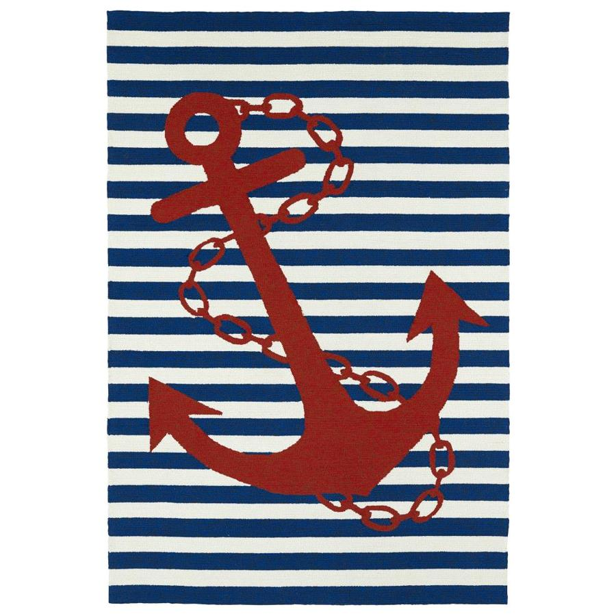 Kaleen Sea Isle Navy Indoor/Outdoor Handcrafted Novelty Area Rug (Common: 9 x 12; Actual: 9-ft W x 12-ft L)