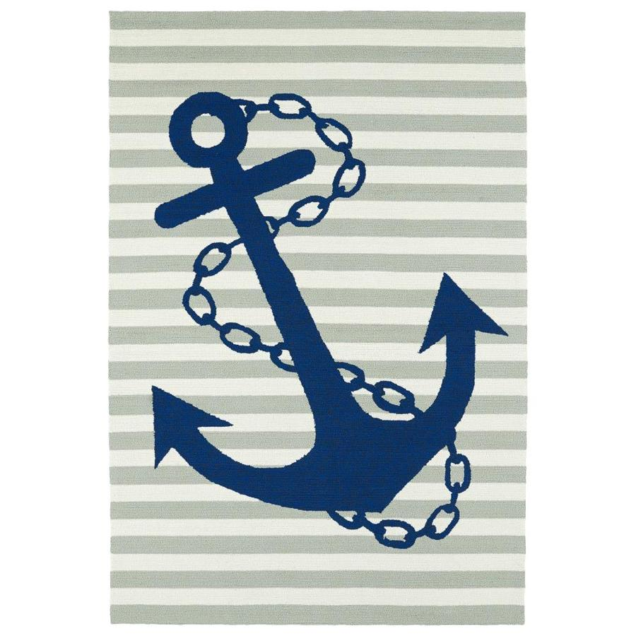 Kaleen Sea Isle Grey Indoor/Outdoor Handcrafted Novelty Area Rug (Common: 9 x 12; Actual: 9-ft W x 12-ft L)