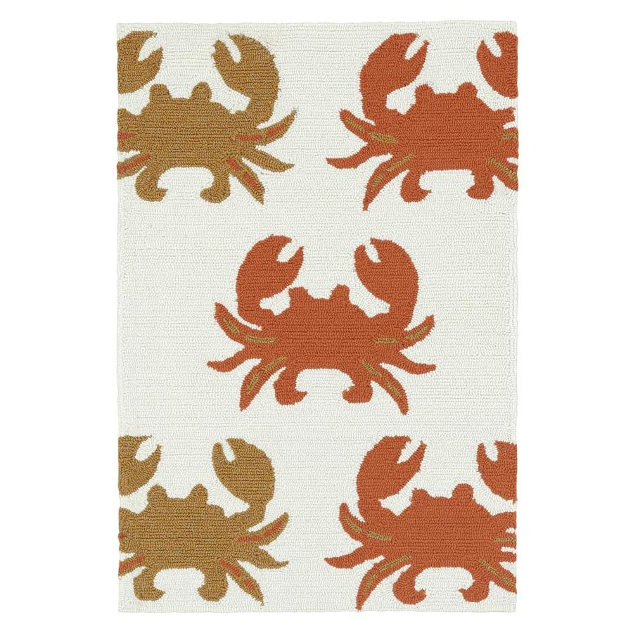 Kaleen Sea Isle Ivory Rectangular Indoor/Outdoor Handcrafted Novelty Throw Rug (Common: 2 x 3; Actual: 2-ft W x 3-ft L)