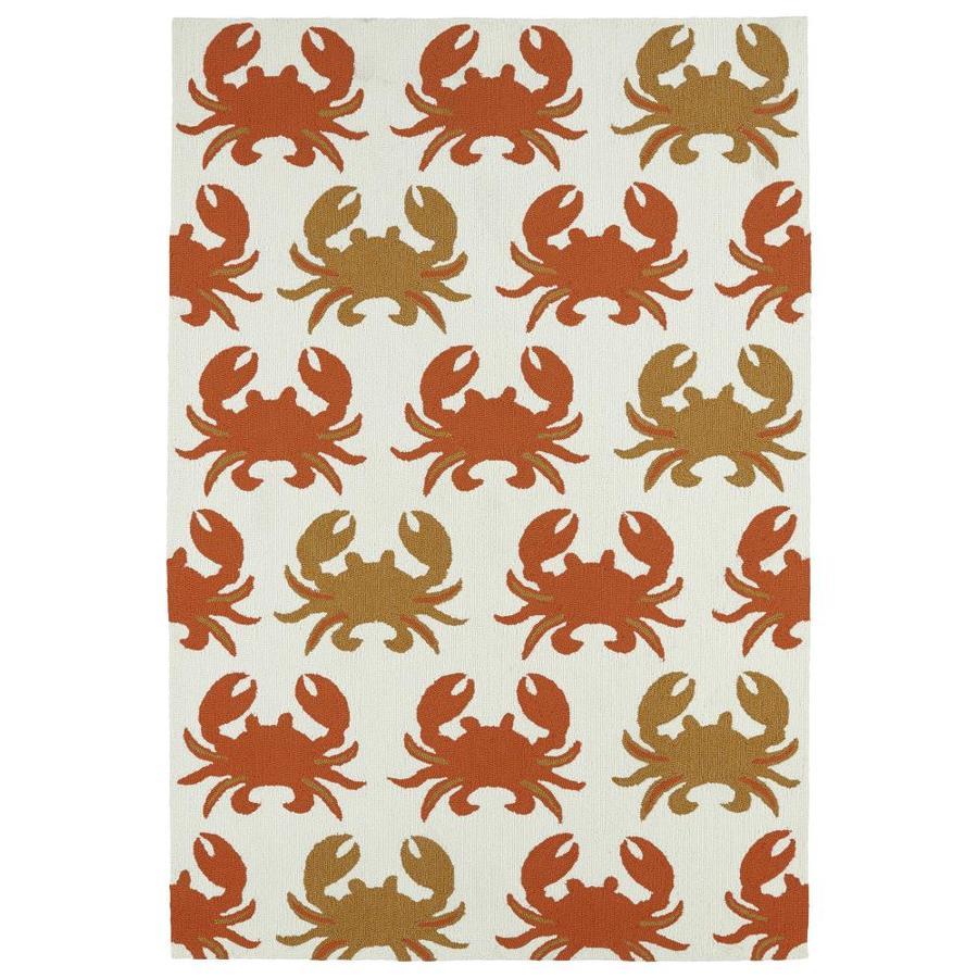 Kaleen Sea Isle Ivory Rectangular Indoor/Outdoor Handcrafted Novelty Throw Rug (Common: 3 x 5; Actual: 3-ft W x 5-ft L)