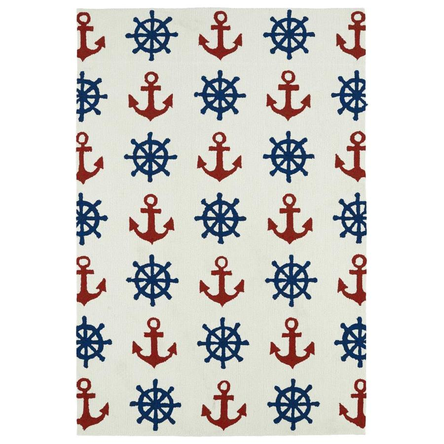 Kaleen Sea Isle Ivory Indoor/Outdoor Handcrafted Novelty Area Rug (Common: 5 x 8; Actual: 5-ft W x 7.5-ft L)