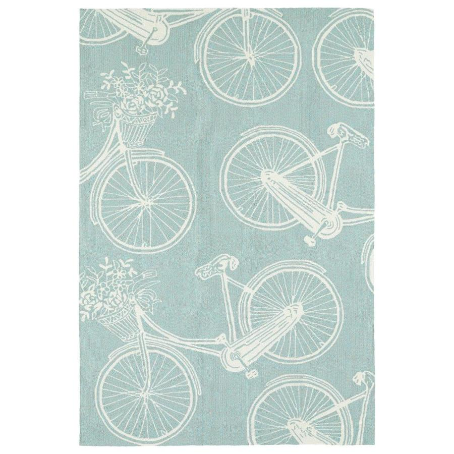 Kaleen Sea Isle Light Blue Indoor/Outdoor Handcrafted Novelty Area Rug (Common: 5 x 8; Actual: 5-ft W x 7.5-ft L)