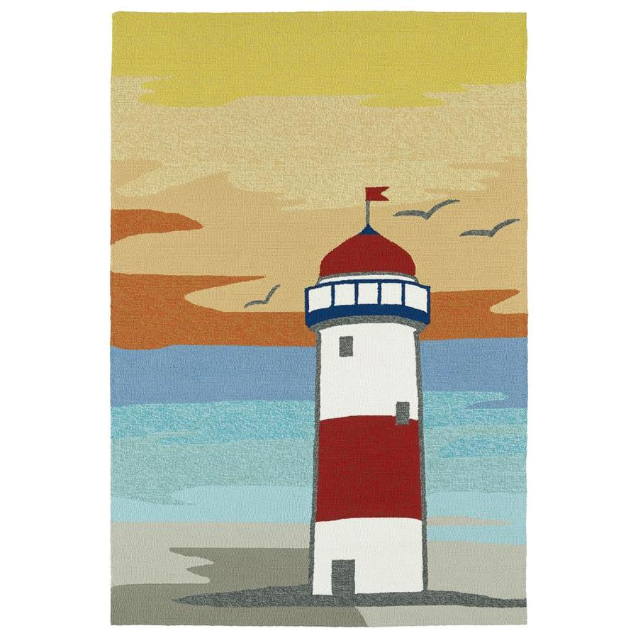 Kaleen Sea Isle Multi Rectangular Indoor/Outdoor Handcrafted Novelty Throw Rug (Common: 3 x 5; Actual: 3-ft W x 5-ft L)