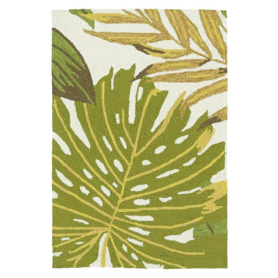 Kaleen Sea Isle Green Rectangular Indoor/Outdoor Handcrafted Novelty Throw Rug (Common: 2 x 3; Actual: 2-ft W x 3-ft L)