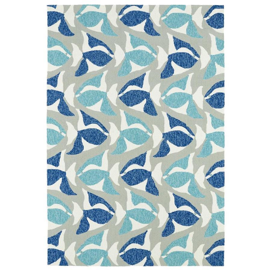 Kaleen Sea Isle Blue Rectangular Indoor/Outdoor Handcrafted Novelty Area Rug (Common: 9 x 12; Actual: 9-ft W x 12-ft L)