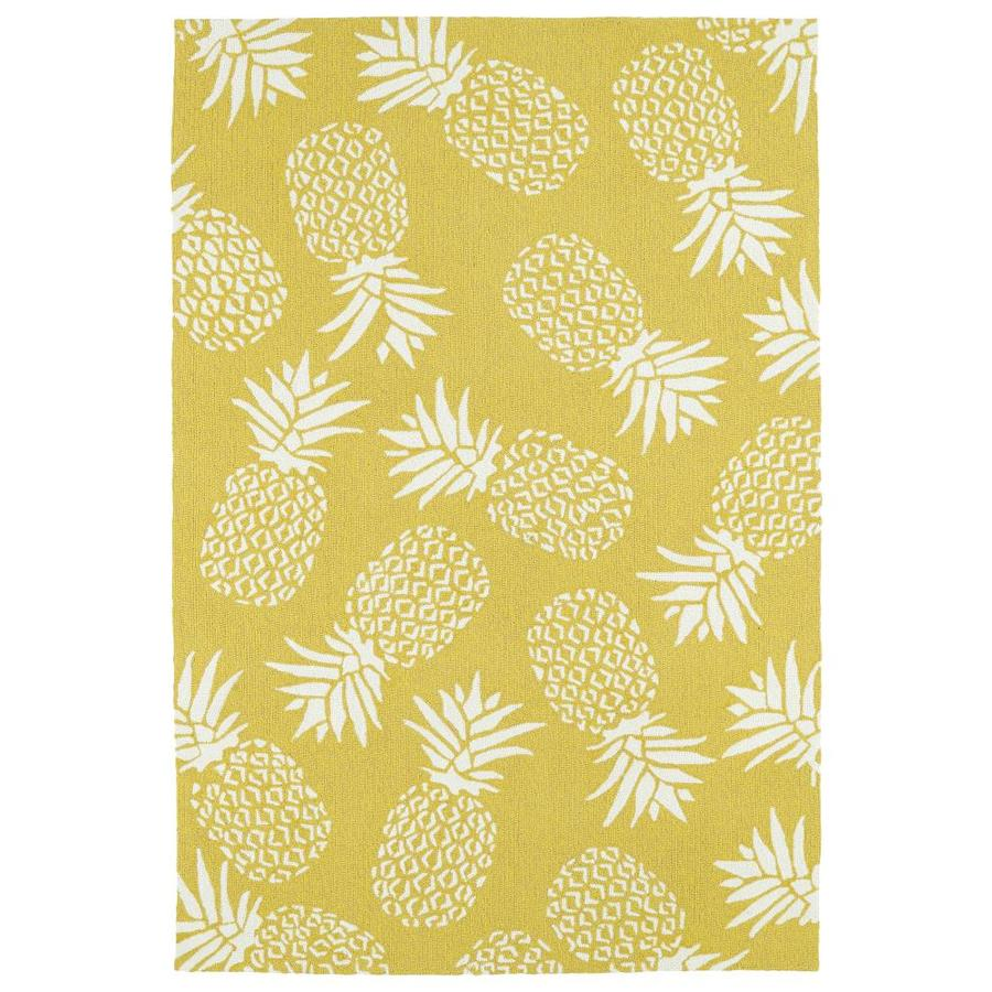 Kaleen Sea Isle Gold Indoor/Outdoor Handcrafted Novelty Area Rug (Common: 9 x 12; Actual: 9-ft W x 12-ft L)