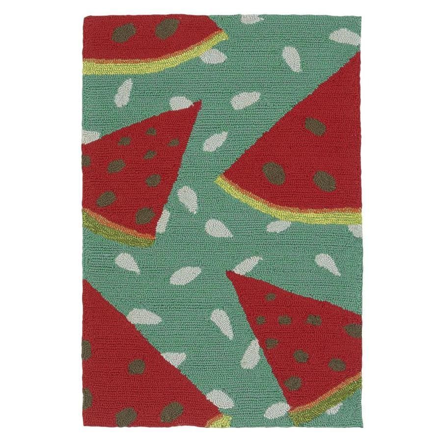 Kaleen Sea Isle Watermelon 2-ft x 3-ft Throw Rug