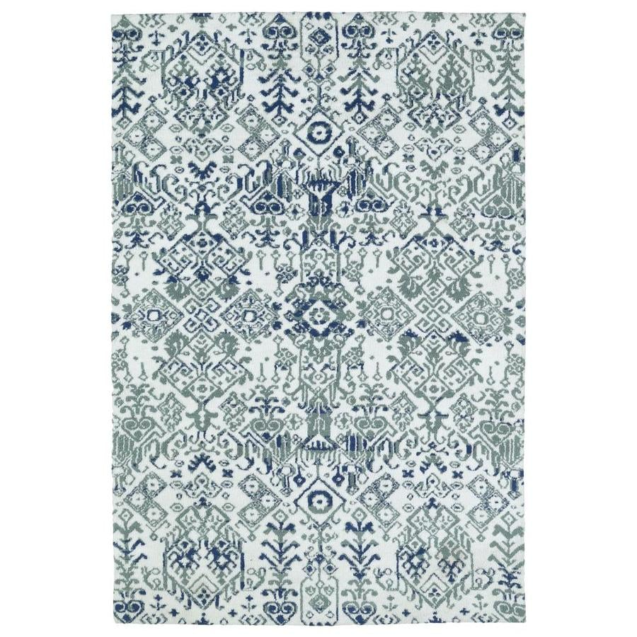 Kaleen Cozy Toes Ivory Rectangular Indoor Machine-Made Area Rug (Common: 8 x 10; Actual: 8-ft W x 10-ft L)