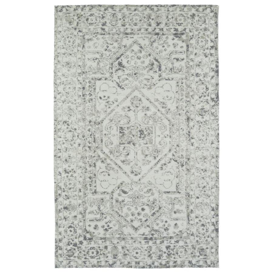 Kaleen Cozy Toes Ivory Rectangular Indoor Machine-Made Area Rug (Common: 5 x 7; Actual: 5-ft W x 7-ft L)