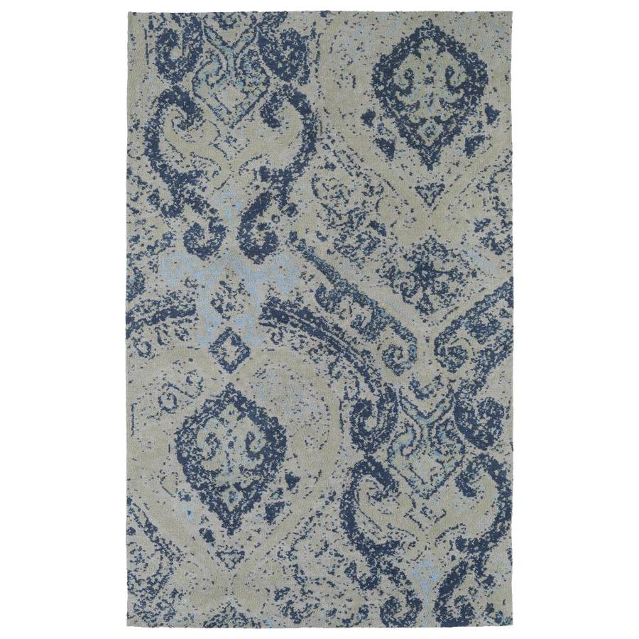 Kaleen Cozy Toes Blue Indoor Area Rug (Common: 5 x 7; Actual: 5-ft W x 7-ft L)