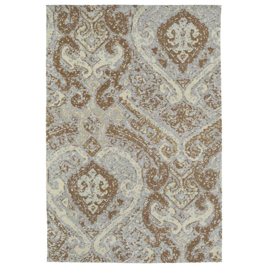 Kaleen Cozy Toes Brown Rectangular Indoor Machine-Made Area Rug (Common: 5 x 7; Actual: 5-ft W x 7-ft L)