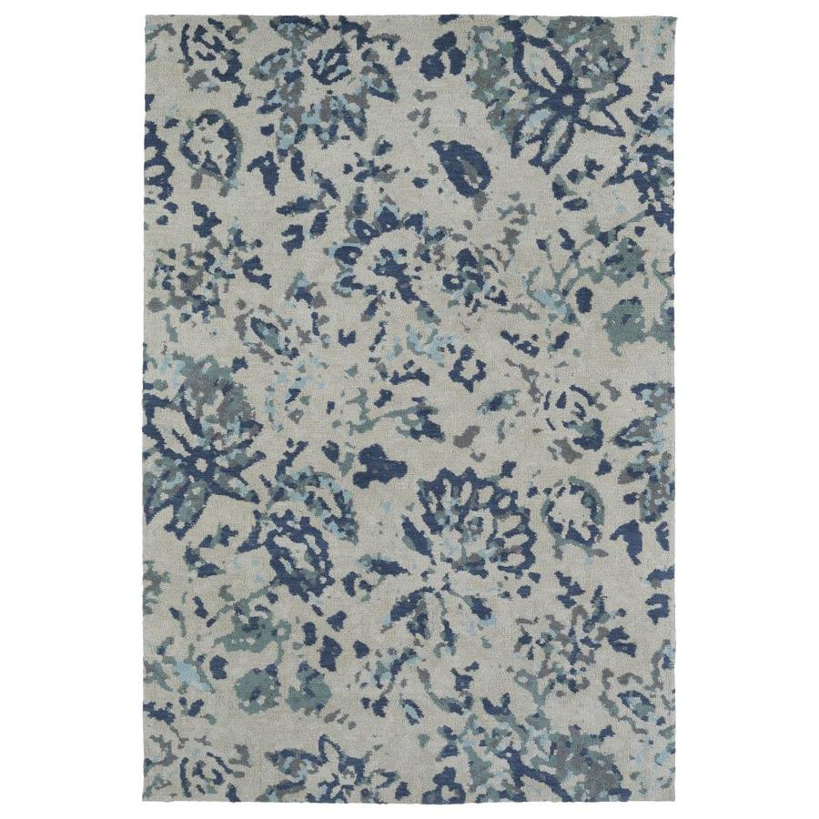 Kaleen Cozy Toes Blue Indoor Area Rug (Common: 8 x 10; Actual: 8-ft W x 10-ft L)