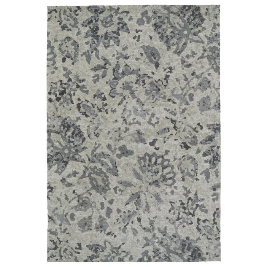 Kaleen Cozy Toes Grey Rectangular Indoor Machine-Made Area Rug (Common: 5 x 7; Actual: 5-ft W x 7-ft L)