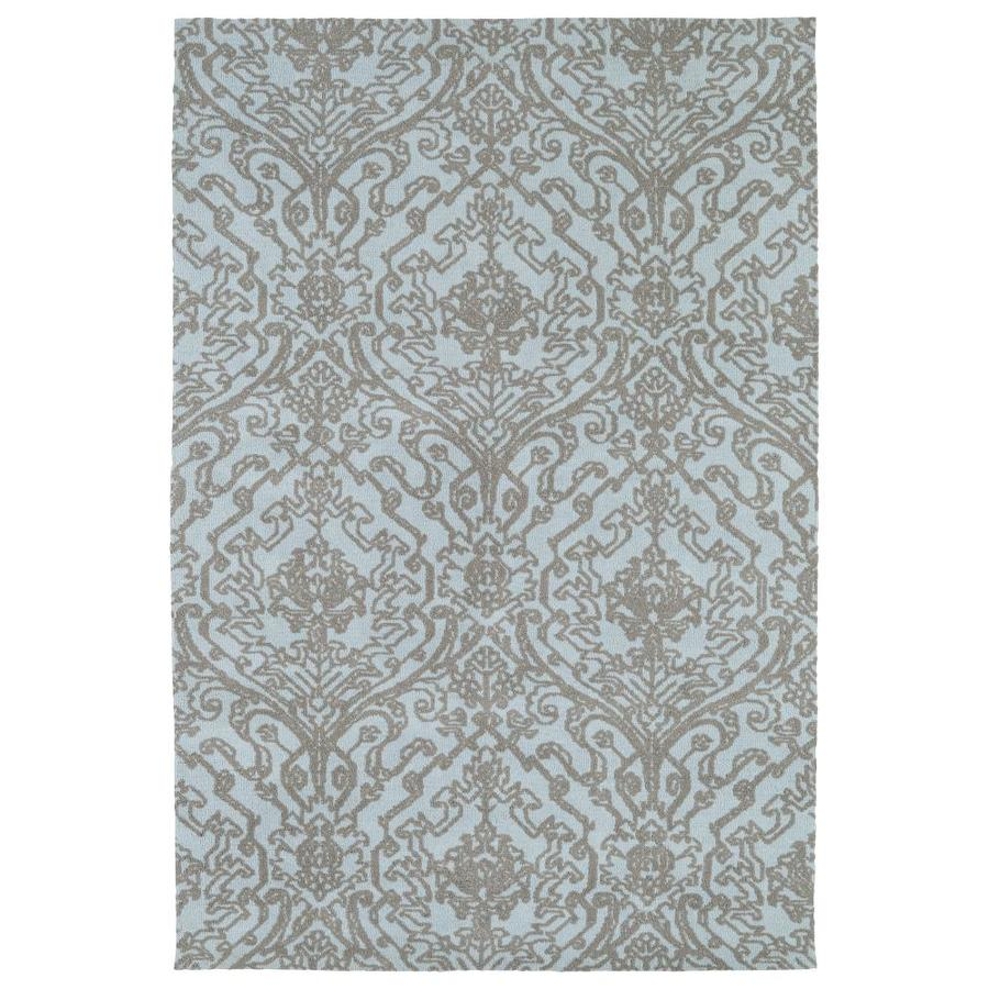 Kaleen Cozy Toes Blue Rectangular Indoor Machine-Made Area Rug (Common: 9 x 12; Actual: 9-ft W x 12-ft L)
