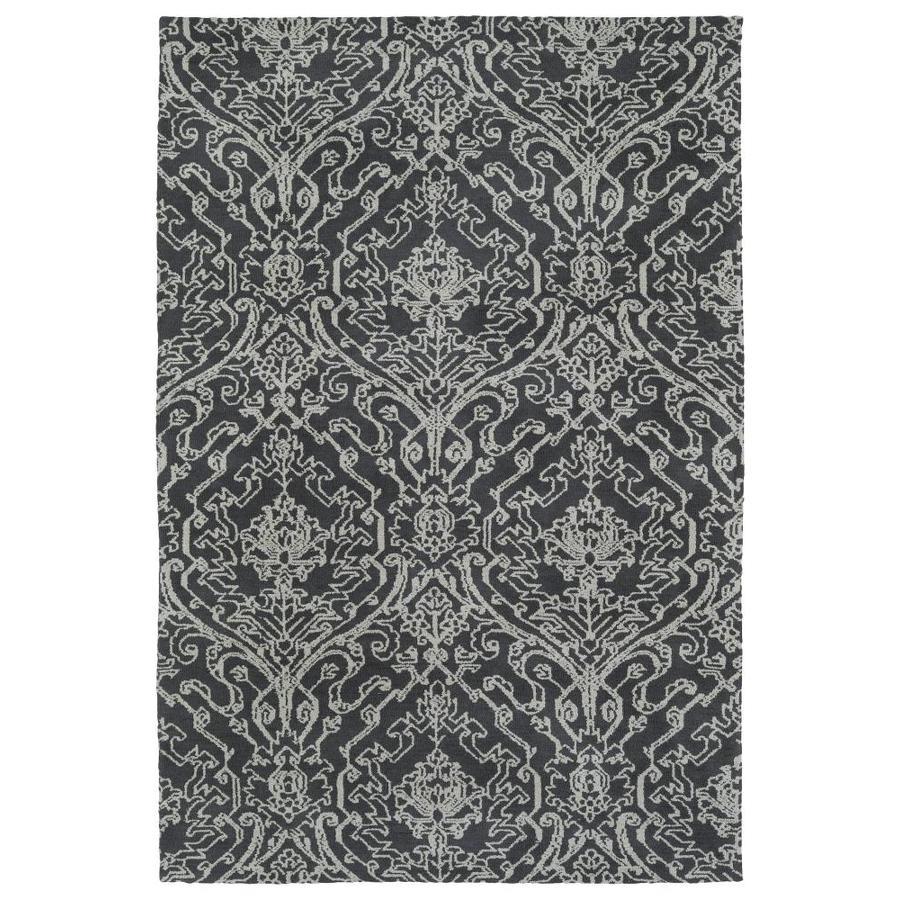 Kaleen Cozy Toes Charcoal Rectangular Indoor Machine-Made Area Rug (Common: 5 x 7; Actual: 5-ft W x 7-ft L)