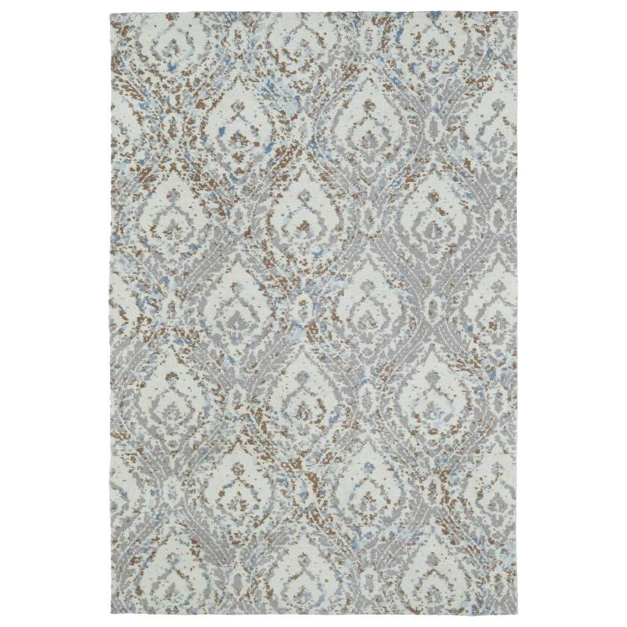Shop kaleen cozy toes ivory indoor throw rug common 2 x for Common throw rug sizes