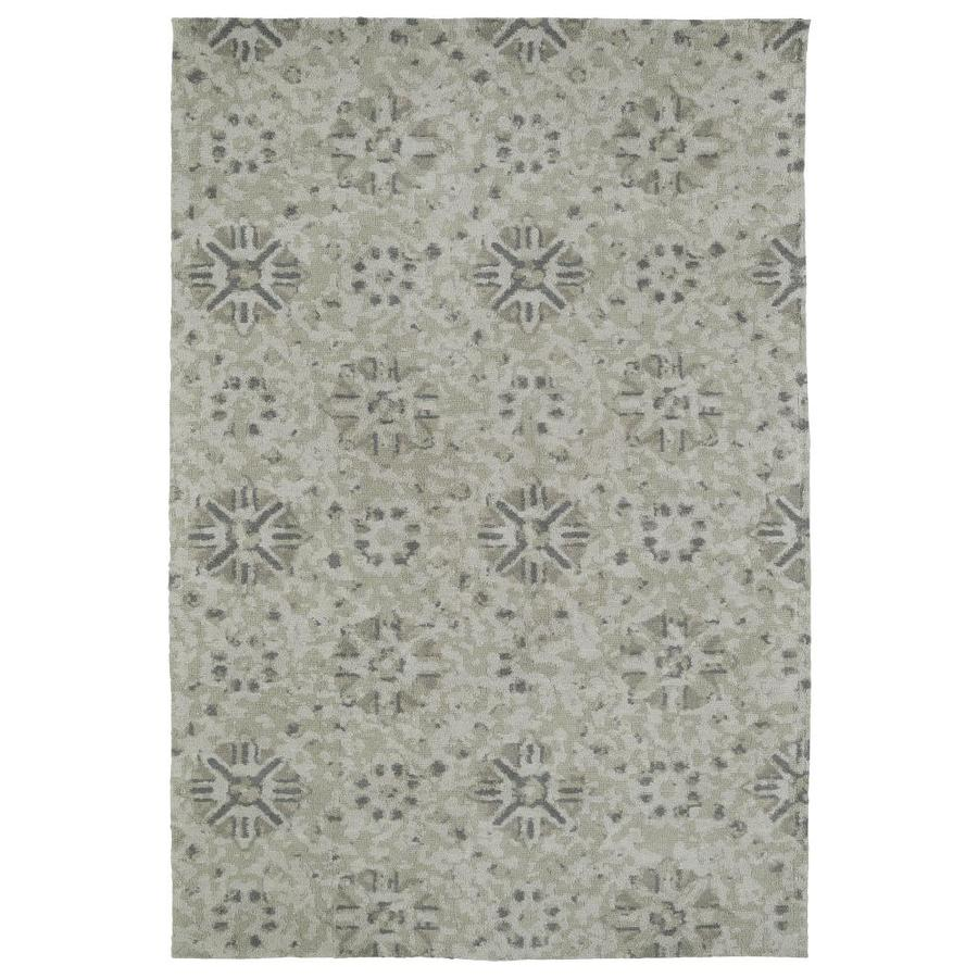 Kaleen Cozy Toes Green Indoor Area Rug (Common: 5 x 7; Actual: 5-ft W x 7-ft L)
