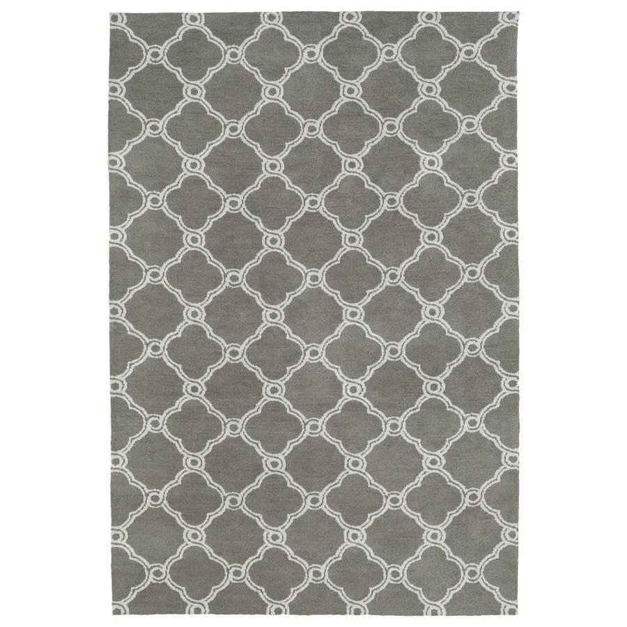 Kaleen Cozy Toes Taupe Rectangular Indoor Machine-Made Throw Rug (Common: 3 x 5; Actual: 3-ft W x 5-ft L)