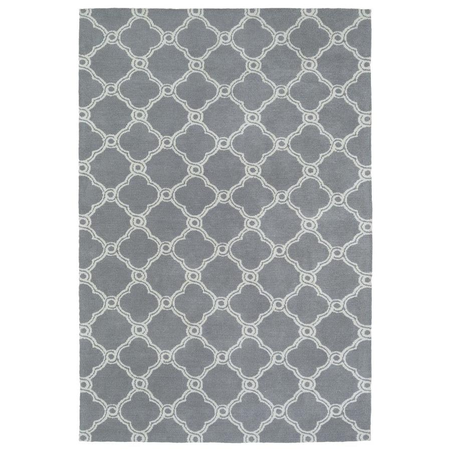 Kaleen Cozy Toes Grey Rectangular Indoor Machine-Made Area Rug (Common: 8 x 10; Actual: 8-ft W x 10-ft L)