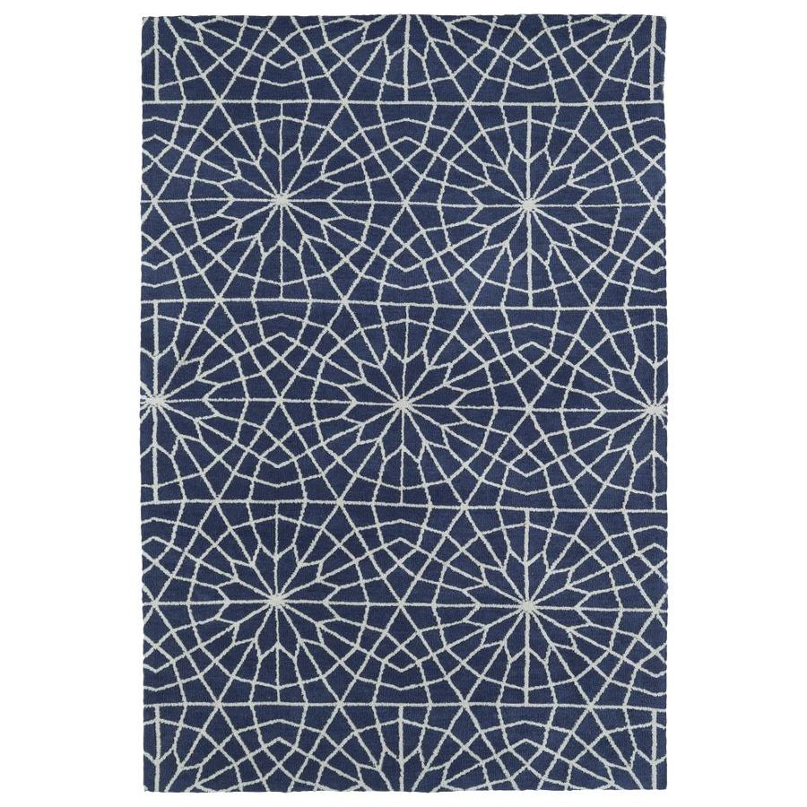 Kaleen Cozy Toes Denim Rectangular Indoor Machine-Made Area Rug (Common: 5 x 7; Actual: 5-ft W x 7-ft L)