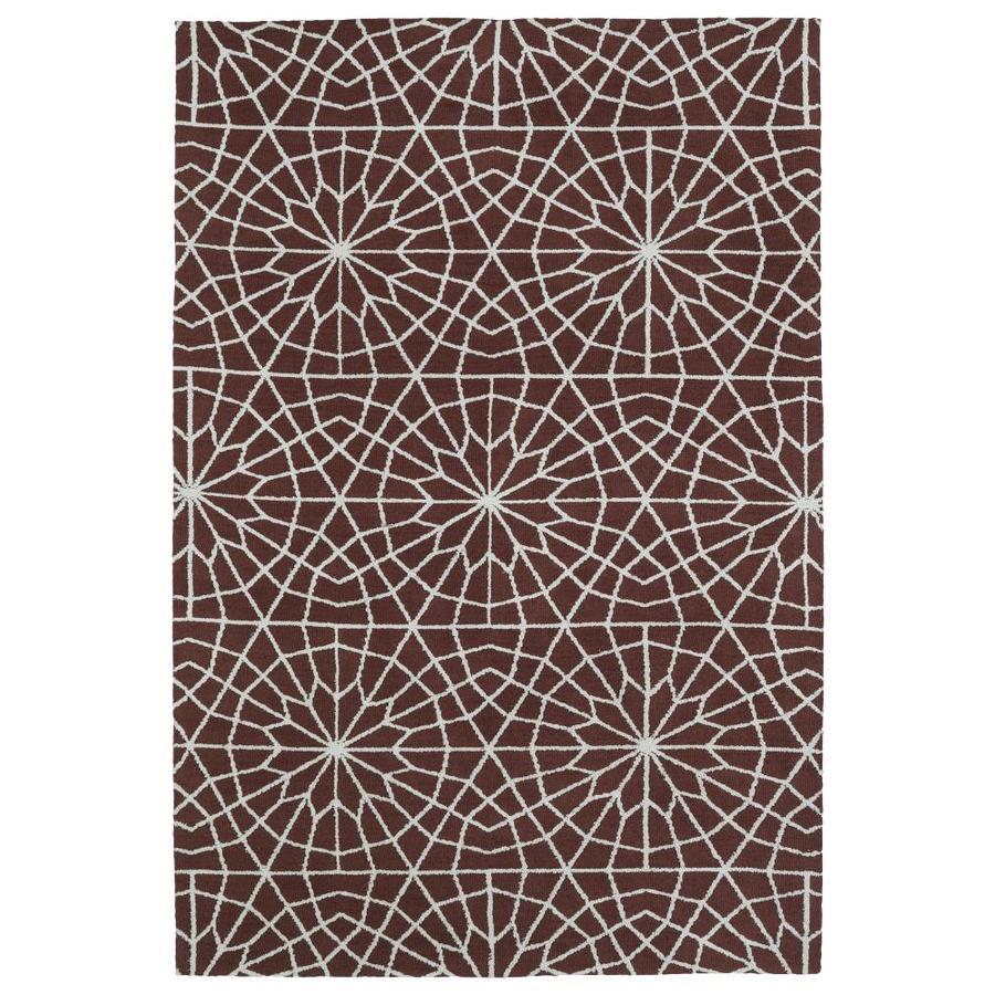 Kaleen Cozy Toes Burgundy Indoor Area Rug (Common: 8 x 10; Actual: 8-ft W x 10-ft L)