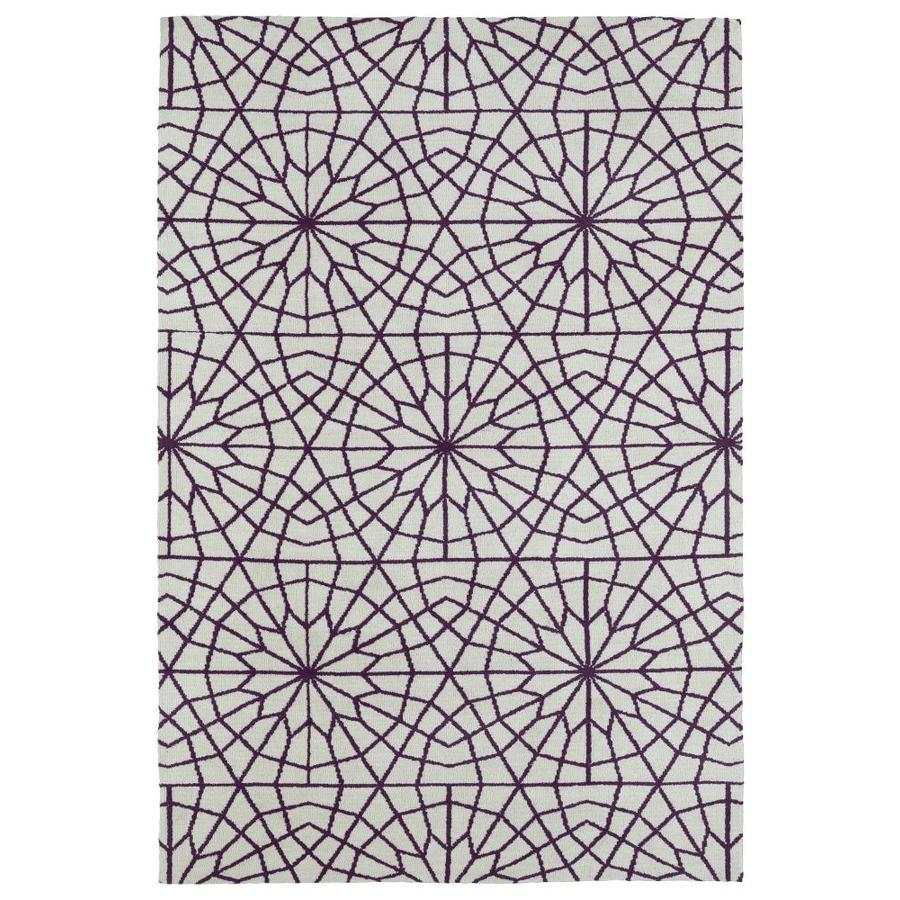 Kaleen Cozy Toes Purple Rectangular Indoor Machine-Made Throw Rug (Common: 2 x 3; Actual: 2-ft W x 3-ft L)