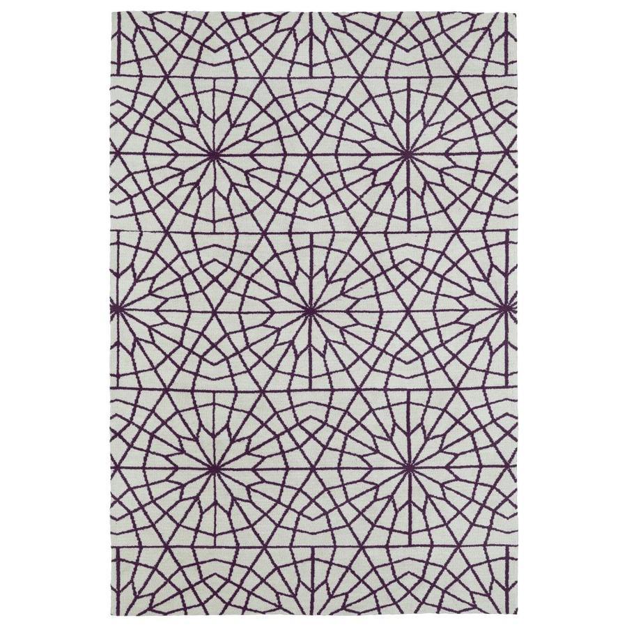 Kaleen Cozy Toes Purple Indoor Throw Rug (Common: 3 x 5; Actual: 3-ft W x 5-ft L)