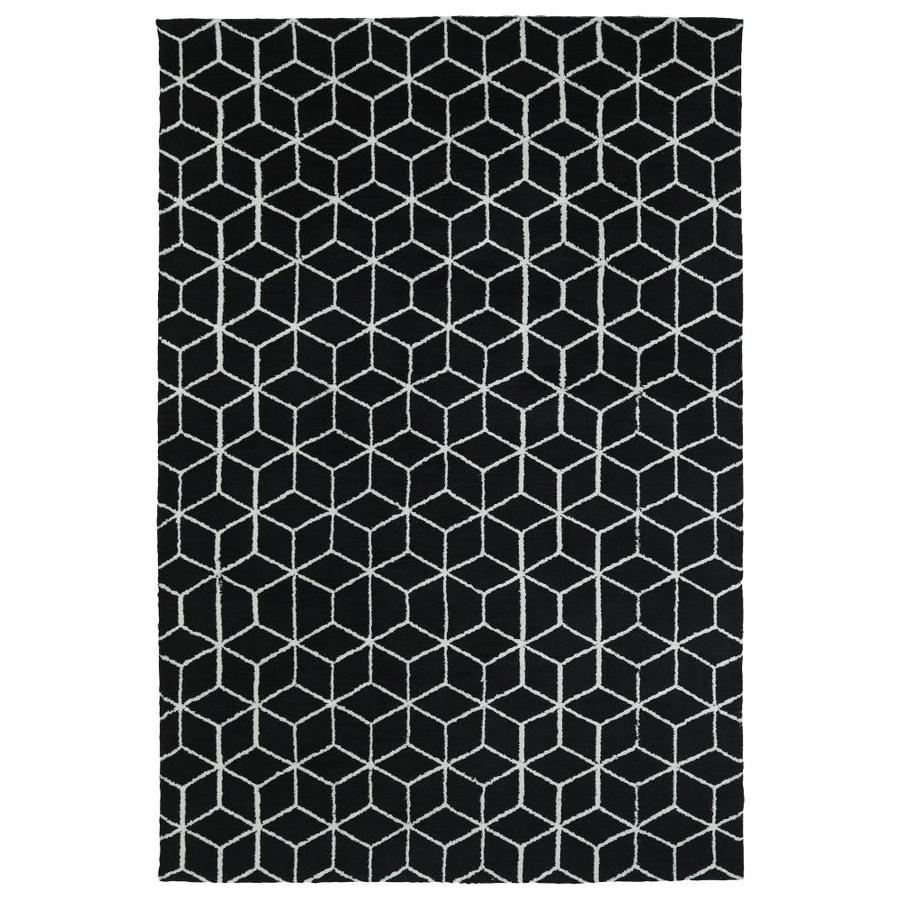Kaleen Cozy Toes Black Rectangular Indoor Machine-Made Throw Rug (Common: 3 x 5; Actual: 3-ft W x 5-ft L)