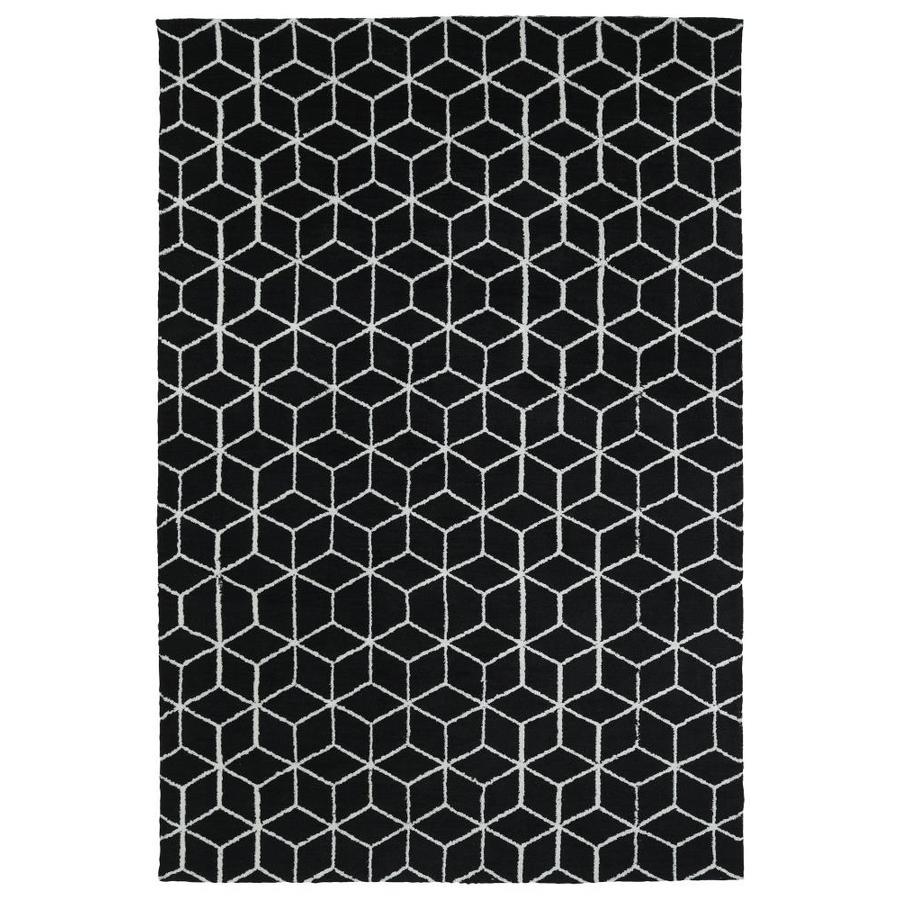 Kaleen Cozy Toes Black Indoor Area Rug (Common: 8 x 10; Actual: 8-ft W x 10-ft L)