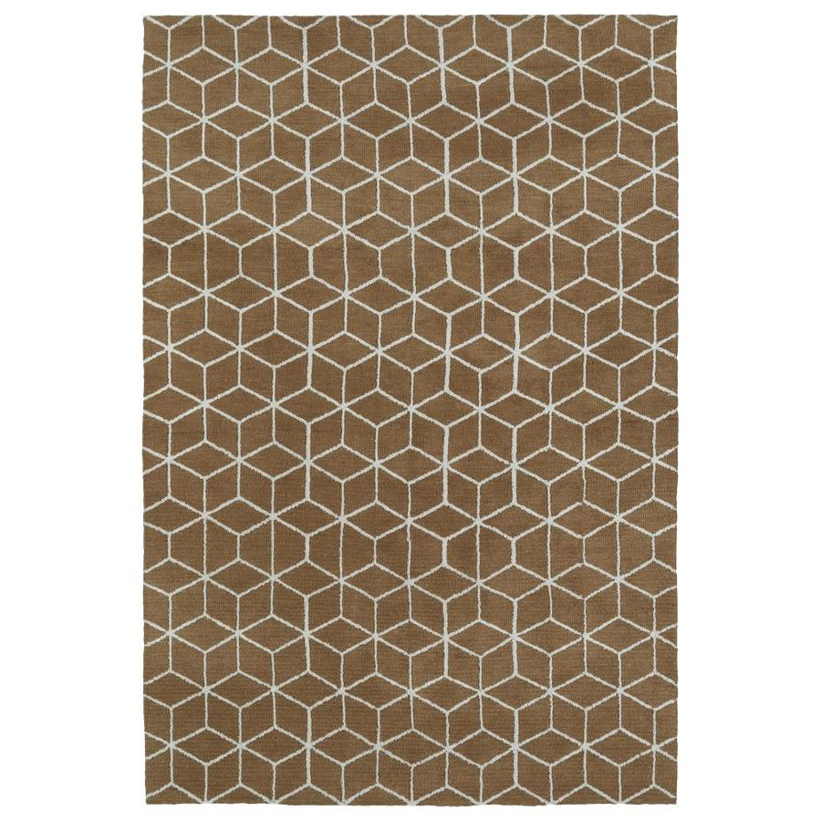 Kaleen Cozy Toes Brown Indoor Throw Rug (Common: 3 x 5; Actual: 3-ft W x 5-ft L)