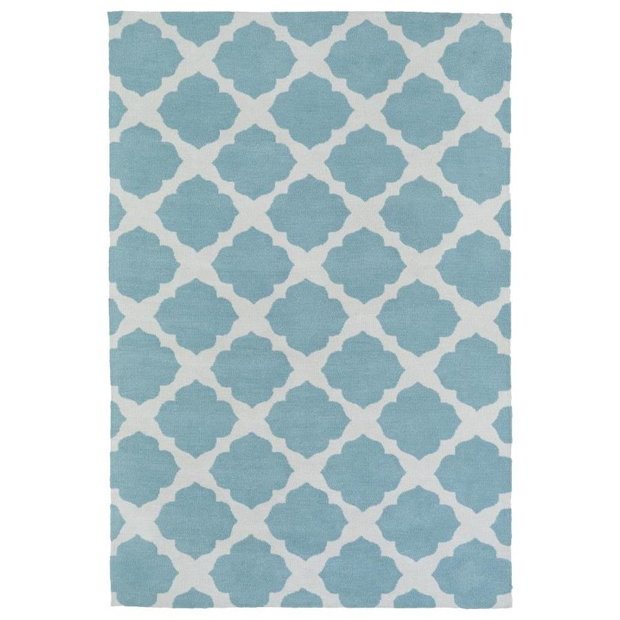 Kaleen Lily and Liam Turquoise Indoor Handcrafted Kids Area Rug (Common: 4 x 6; Actual: 4-ft W x 6-ft L)