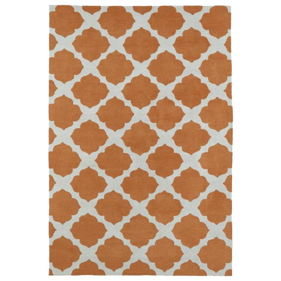Kaleen Lily and Liam Orange Rectangular Indoor Handcrafted Kids Area Rug (Common: 5 x 7; Actual: 5-ft W x 7-ft L)