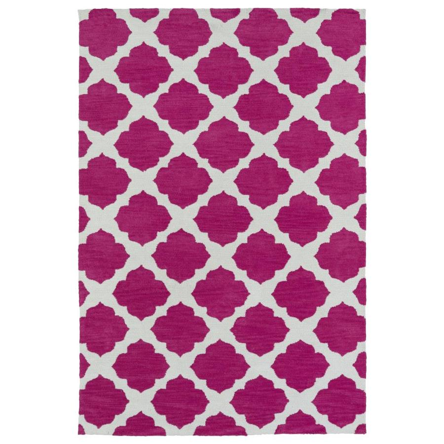 Kaleen Lily and Liam Pink Rectangular Indoor Handcrafted Kids Area Rug (Common: 8 x 10; Actual: 8-ft W x 10-ft L)