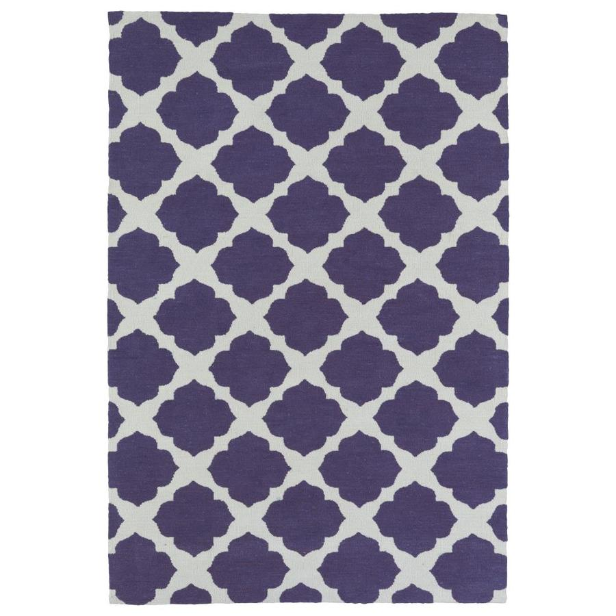 Kaleen Lily and Liam Purple Rectangular Indoor Handcrafted Kids Throw Rug (Common: 3 x 5; Actual: 3-ft W x 5-ft L)