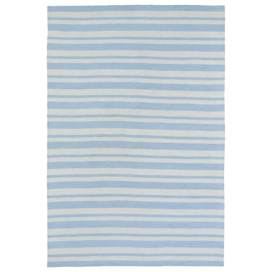 Kaleen Lily and Liam Blue Rectangular Indoor Handcrafted Kids Area Rug (Common: 5 x 7; Actual: 5-ft W x 7-ft L)