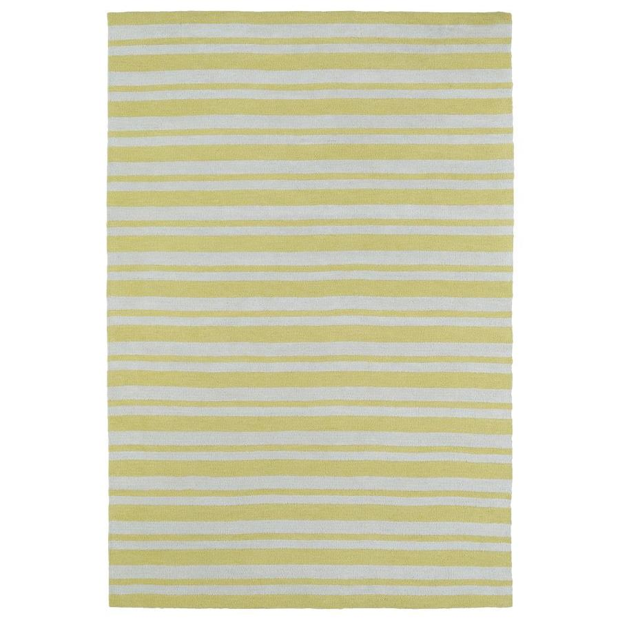 Kaleen Lily and Liam Yellow Indoor Handcrafted Kids Throw Rug (Common: 3 x 5; Actual: 3-ft W x 5-ft L)