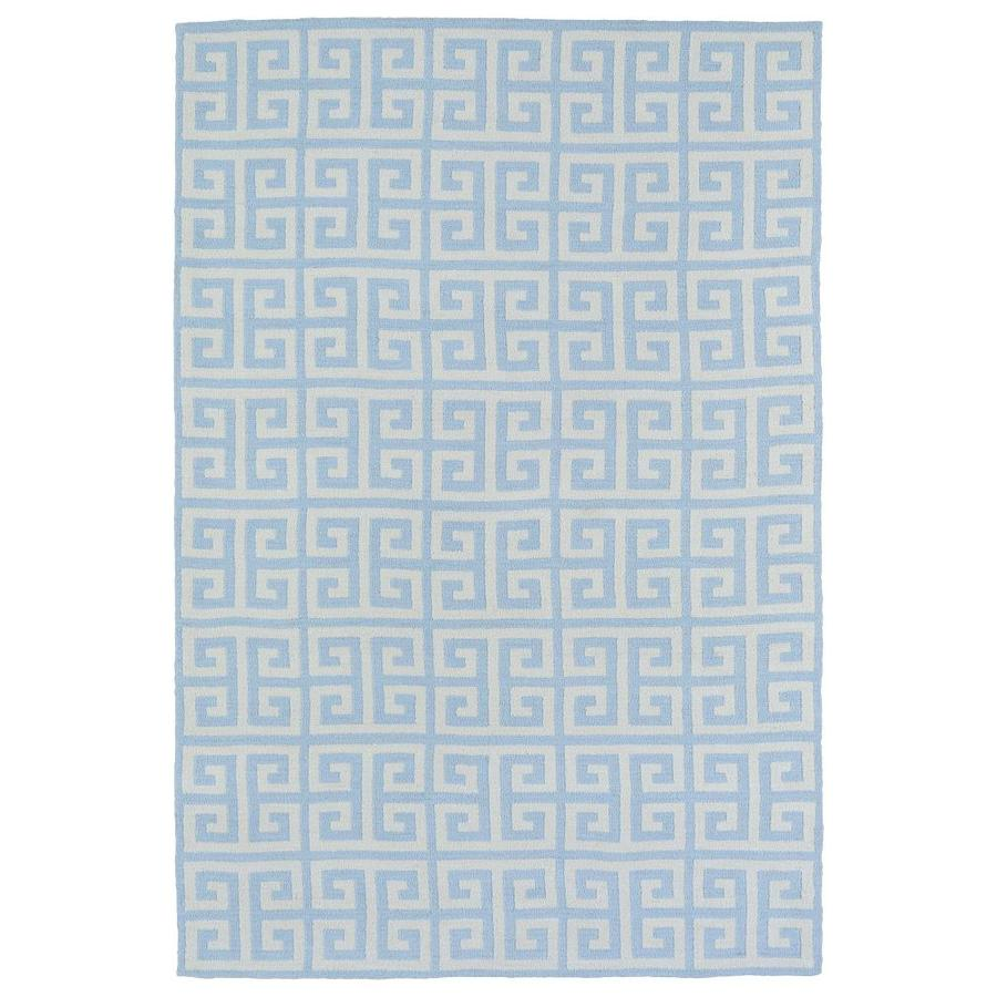 Kaleen Lily and Liam Blue Rectangular Indoor Handcrafted Kids Throw Rug (Common: 3 x 5; Actual: 3-ft W x 5-ft L)