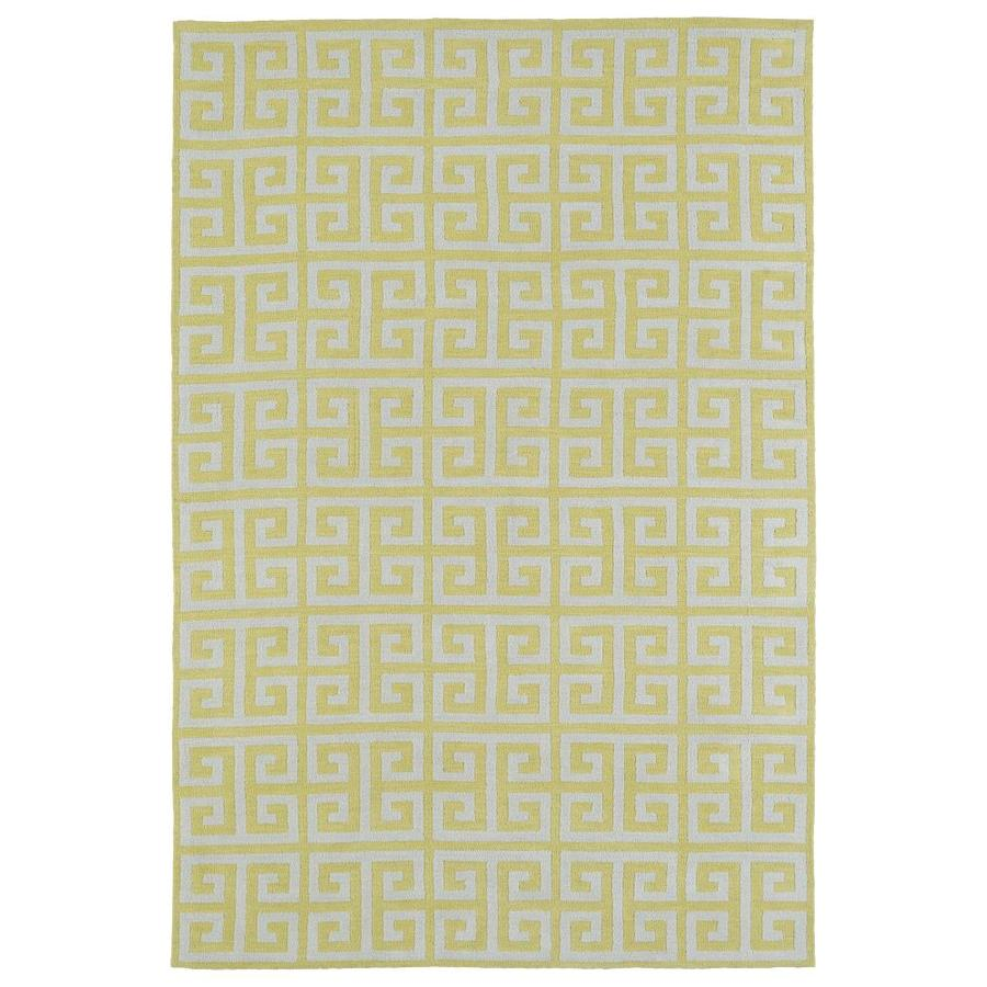 Kaleen Lily and Liam Yellow Indoor Handcrafted Kids Area Rug (Common: 5 x 7; Actual: 5-ft W x 7-ft L)