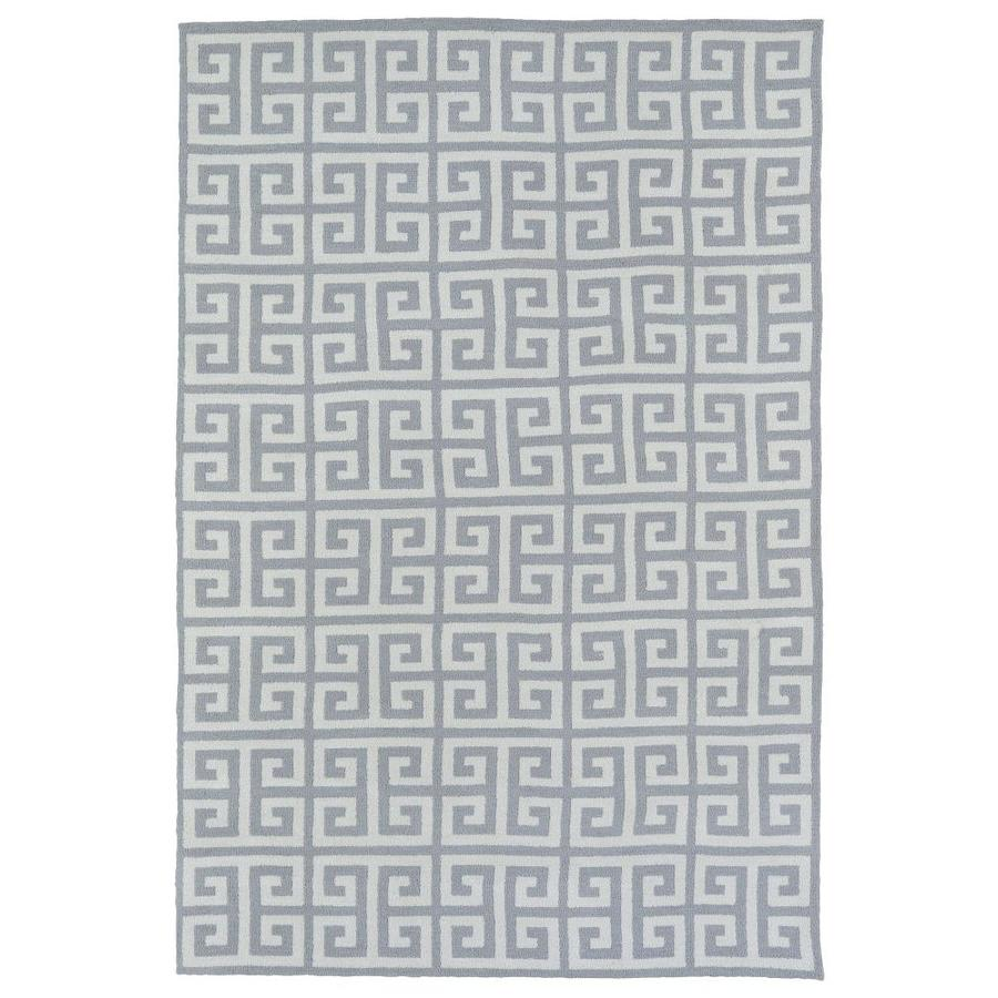 Kaleen Lily and Liam Grey Rectangular Indoor Handcrafted Kids Area Rug (Common: 8 x 10; Actual: 8-ft W x 10-ft L)