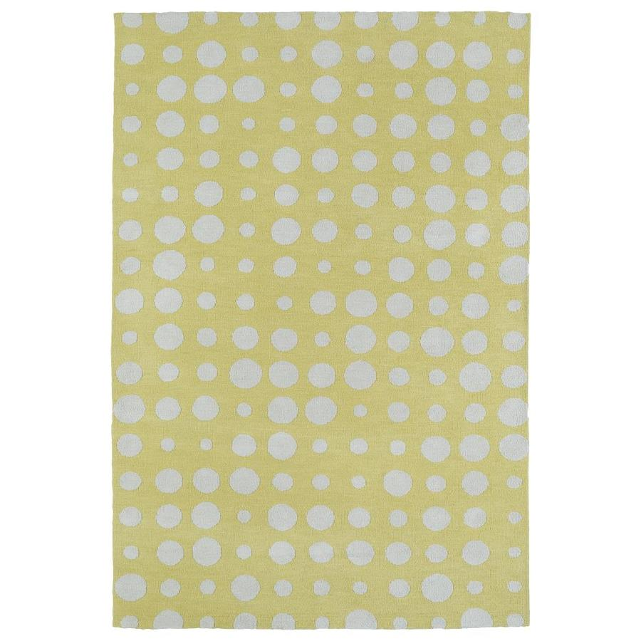 Kaleen Lily and Liam Yellow Indoor Handcrafted Kids Throw Rug (Common: 2 x 3; Actual: 2-ft W x 3-ft L)