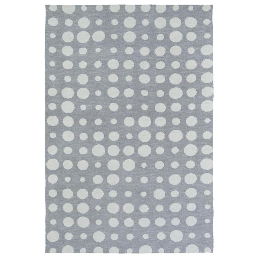 Kaleen Lily and Liam Grey Rectangular Indoor Handcrafted Kids Throw Rug (Common: 3 x 5; Actual: 3-ft W x 5-ft L)