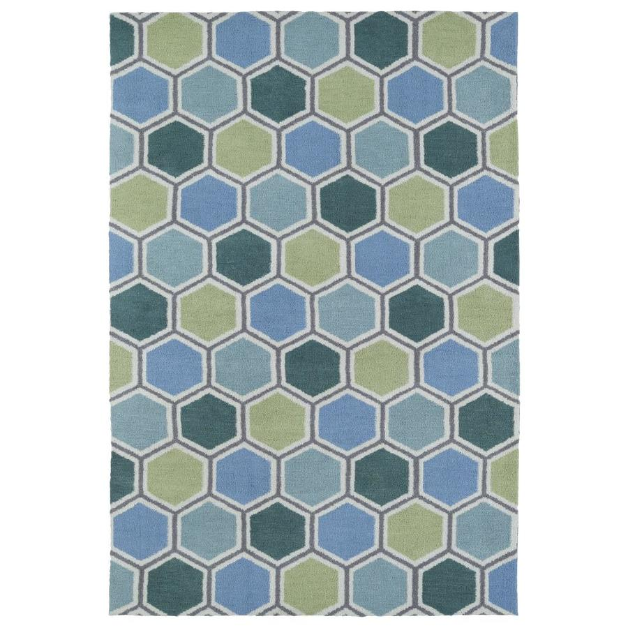 Kaleen Lily and Liam Blue Indoor Handcrafted Kids Area Rug (Common: 8 x 10; Actual: 8-ft W x 10-ft L)