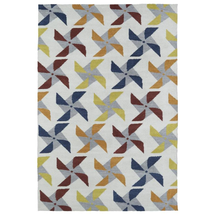 Kaleen Lily and Liam Ivory 3-ft x 5-ft Throw Rug