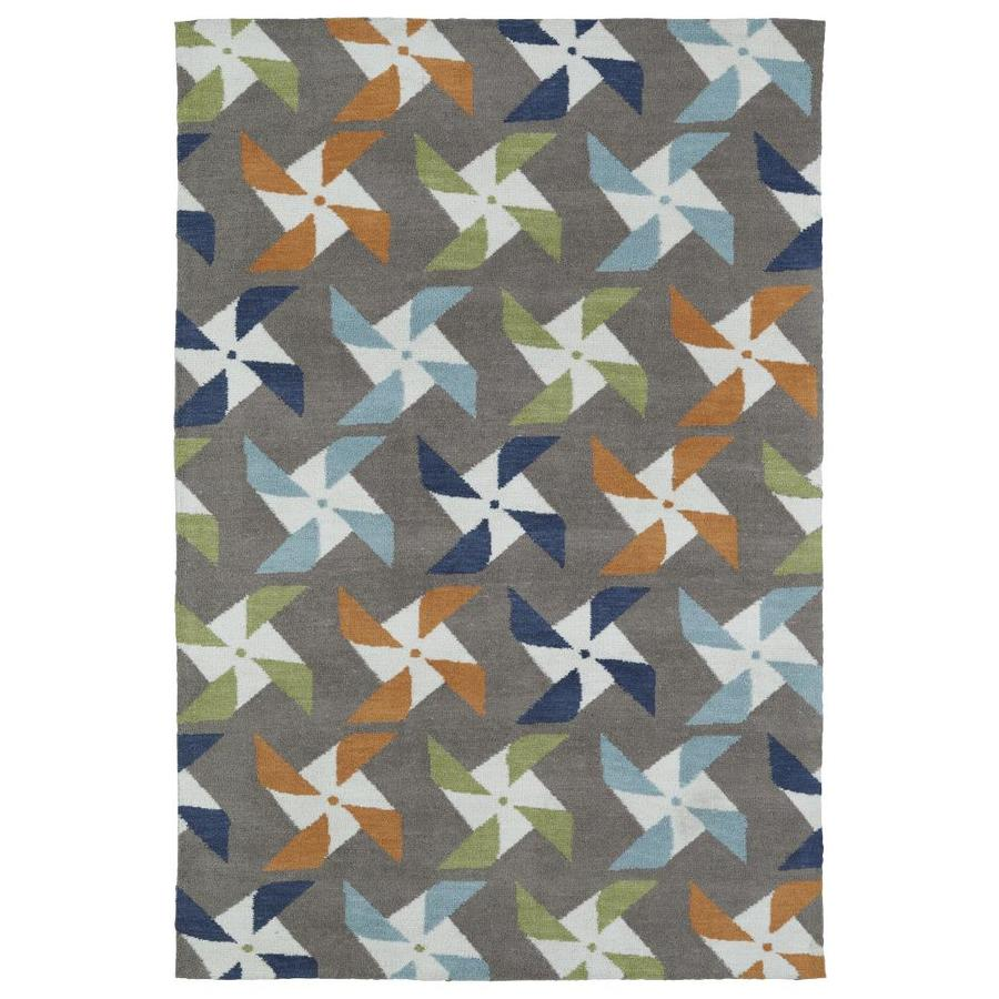 Kaleen Lily and Liam Taupe Rectangular Indoor Handcrafted Kids Throw Rug (Common: 2 x 3; Actual: 2-ft W x 3-ft L)
