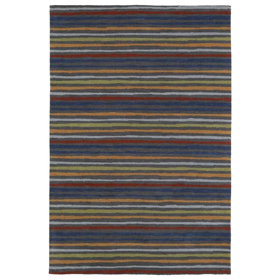 Kaleen Lily and Liam Grey Indoor Handcrafted Kids Throw Rug (Common: 3 x 5; Actual: 3-ft W x 5-ft L)